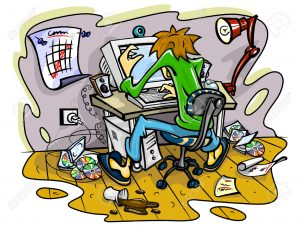 8524286-hacker-working-on-computer-in-jumble-room-illustration-Stock-Photo